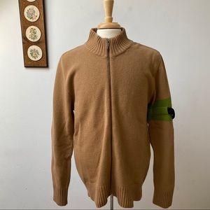 Bikkembergs Wool Full Zip Sweater Made In Italy